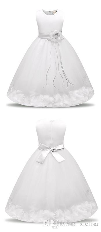 Dress Summer Girl Clothing 2018 Baby Wedding Veil Dresses Kids Wear Costume Party For Girls Clothes