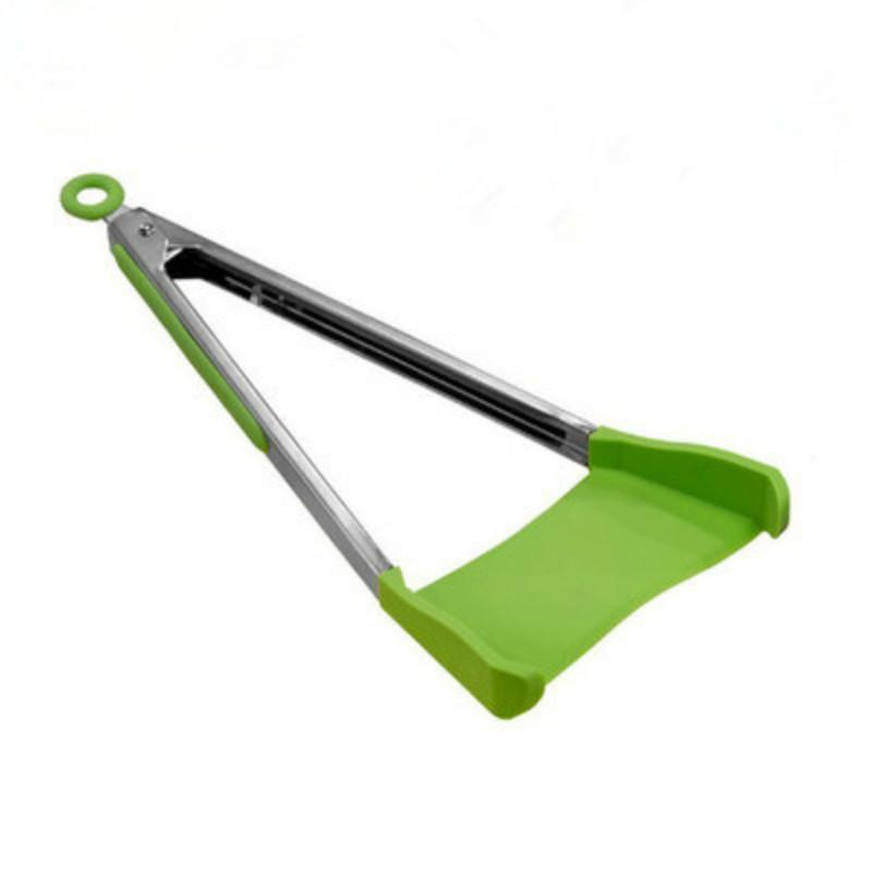 Kitchen Tong #31 - 12 Inch Clever Spatula Tong 2-in-1 Kitchen Spatula Tongs Non-stick U0026 Heat  Resistant Kitchen Helper Frame Kitchen Tongs Tools Clever Tong Spatula  Kitchen ...