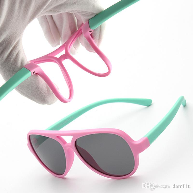 28e16443a06 2018 Silicone TPEE Flexible Kids Wayfarer Polarized Sunglasses ...