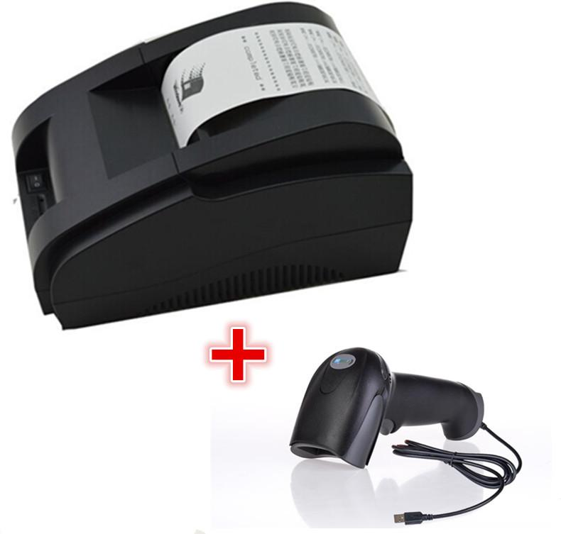 Wired Printers | Wired Scanner Printer Black And White Wholesale High Quality 58mm