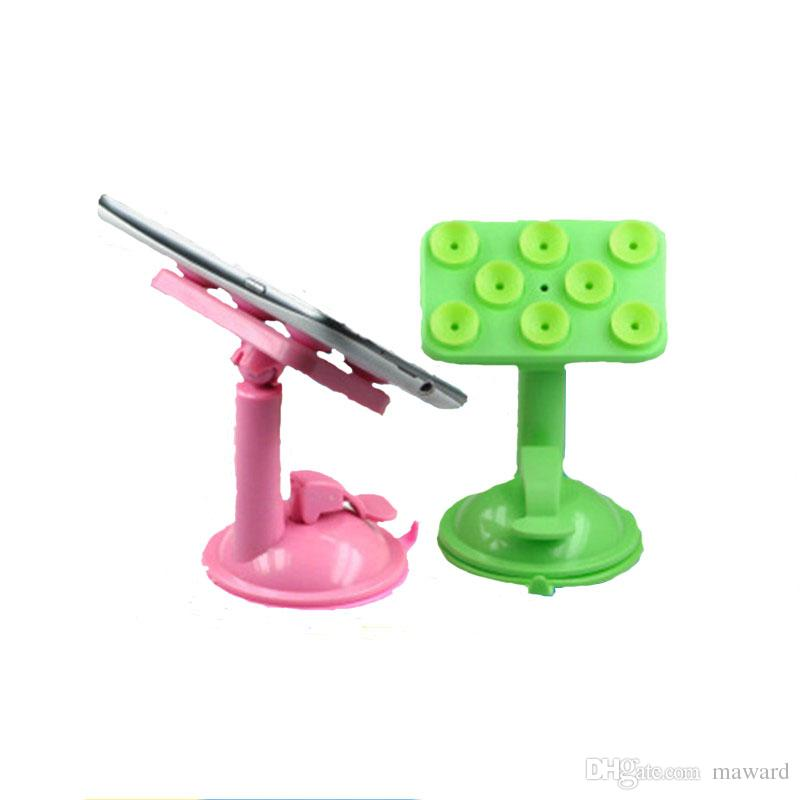 Heißer Verkauf Telefon faule Unterstützung 8-Punkt Saugnapf Autotelefonhalter Auto Navigation kreative Desktop-Sauger