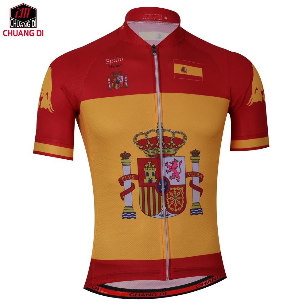 6306560a0 New Mens Cycling Jersey Comfortable BikeShirt Spanish Flag Logo Alien  SportsWear Red Yellow Cycling Clothing Size Popular T Shirts Cycling Shirt  From ...