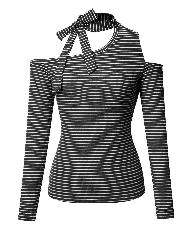 T Scoperte Con Acquista Spalle Shirt Shirt Righe Maniche A T A Tx6w4wFdqf