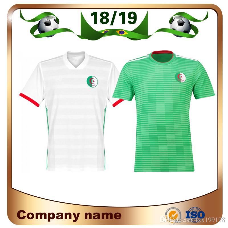 Compre 2019 Casa Verde Argélia Camisa De Futebol 2018 Copa Do Mundo Camisa  Branca Em Casa Equipe Nacional De Mangas Curtas Uniformes De Atletismo De  Futebol ... 747ae2da7a3ed
