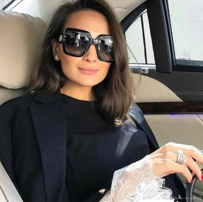 34279ea709170 Compre 2018 Óculos De Sol De Moda Da Itália Óculos De Sol Quadrados De  Tamanho Extragrandes Mulheres Óculos De Sol De Moldura Retro Para Óculos De  Sol De ...