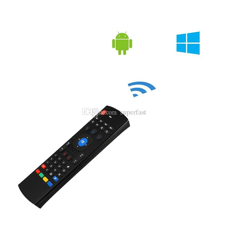 Wireless Air Mouse Keyboard Remote Controller QWERTY Wireless Multi-media 2.4GHz Infrared Controller For Android TV Box HTPC with Retail Box