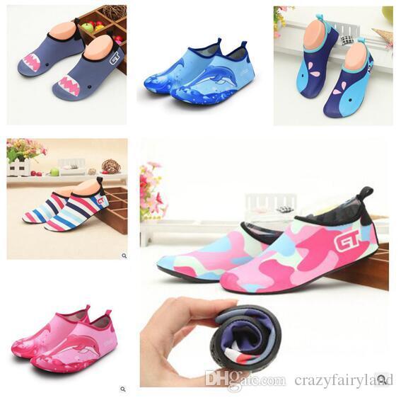 2d8d854d1d1 Children Water Shoes Anti Slip Barefoot Skin Footware For River Beach Sandy  Beach Aqua Shoes For Kids Indoor Sandals DHL Boys Running Top Kids White  Sports ...