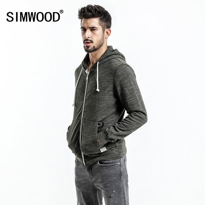 Großhandel Simwood 2018 Herbst Neue Hoodies Jacke Männer Casual  Reißverschluss Sweatshirts Känguru Tasche Slim Fit Plus Größe Marke Kleidung  Wk017001 ... 38c2a79247