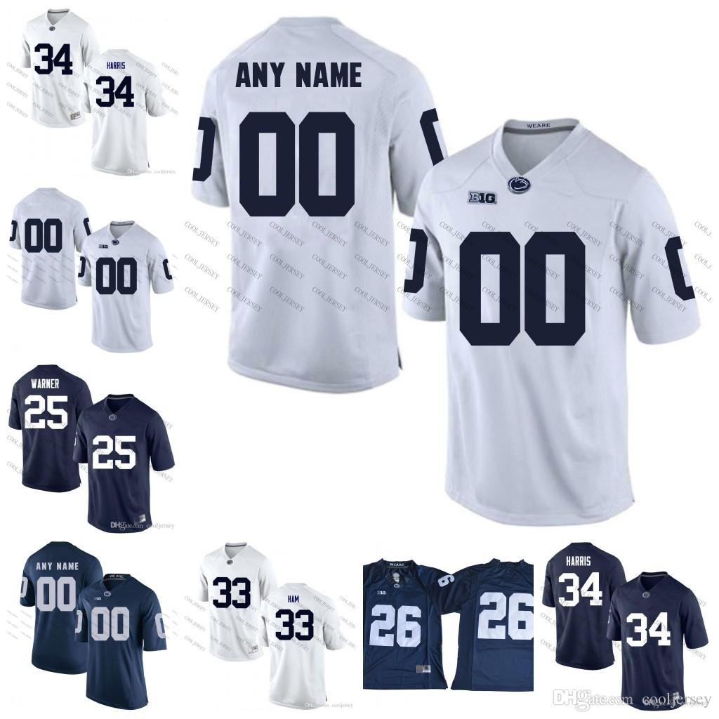 2019 NCAA Penn State Nittany Lions  45 Sean Lee 11 NaVorro Bowman 8 Allen  Robinson 14 Christian Hackenberg PSU College Football Jersey Navy Blue From  ... 92a64694c