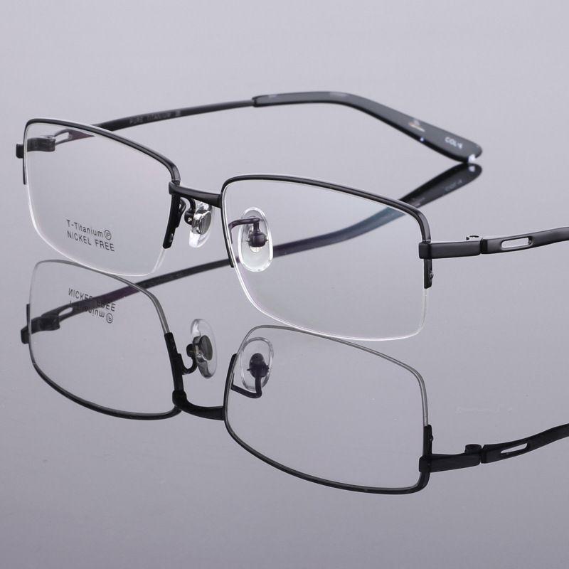 97cbefcfaa4 Eyeglass Frames Titanium Half Rimless Spectacle Frames LB 6616 Black  Optical Frames Online Police Glasses Frames From Lilu 1988