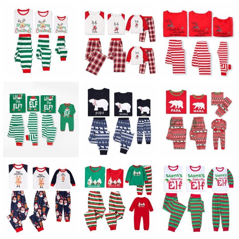62c59e817 2019 Christmas Family Matching Christmas Reindeer Trees Pajamas ...