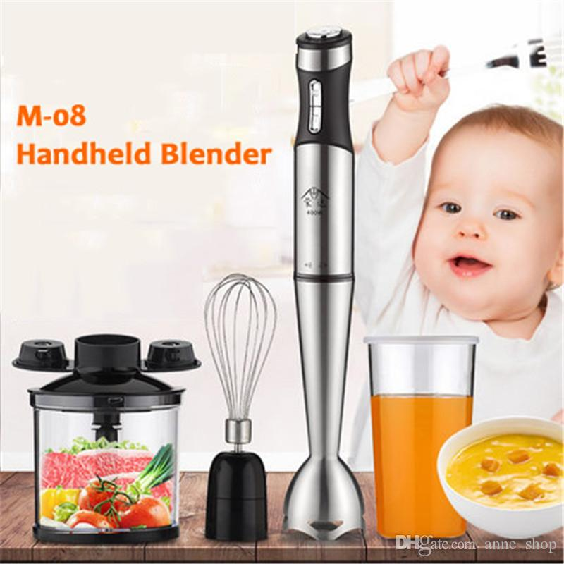 220V Handhled Blender Multifunction Baby Food Mixer Juice /Milk Shake/Rice Paste/Egg Beater 8 Gear Speed Cooking stick