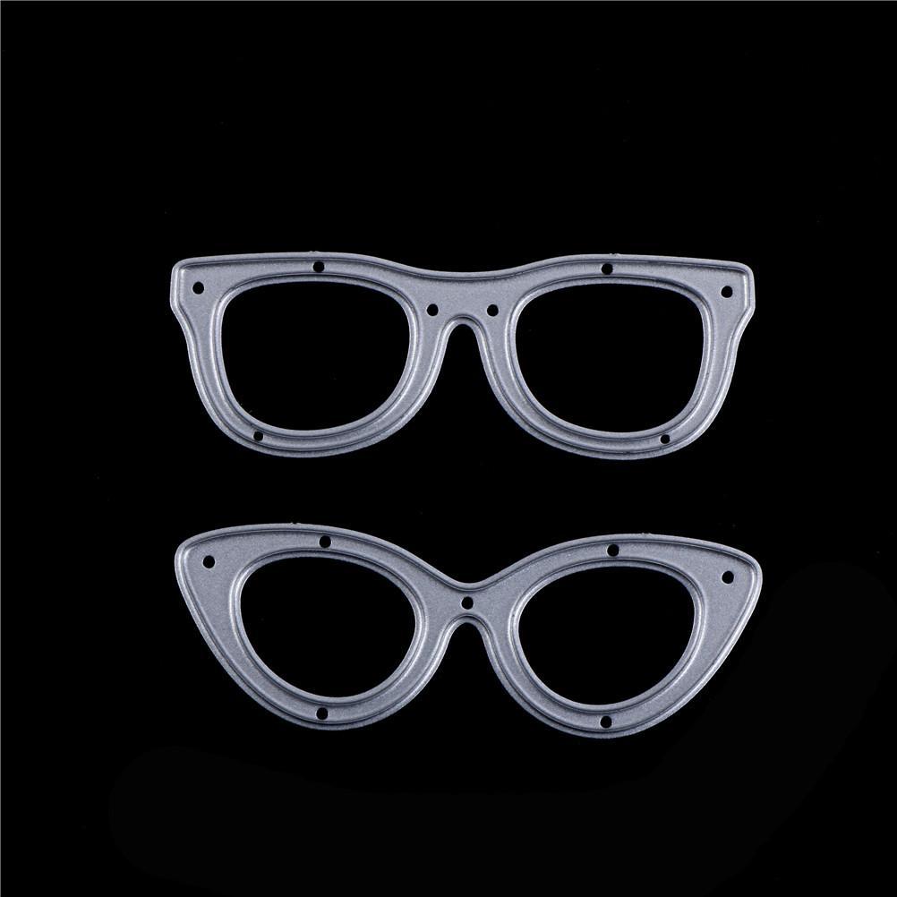 2pcs Decorative Crafts DIY Photo Album Embossing Folder Stencil Paper Maker Glasses Metal Cutting Dies For Scrapbooking