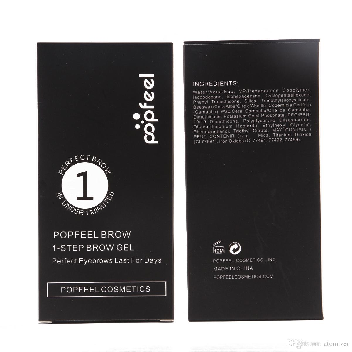 POPFEEL Kozmetik Kaş Jel Kaş Krem 5 renkler ile fırça Kahverengi Siyah Su Geçirmez Makyaj Kaş Jel Perfet Kaşları günler için Son