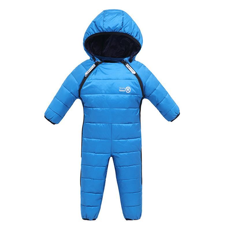 2017 neue Mode Baby Down Strampler Mantel Top Qualität Kinder Dicke Warme Solide Jacke Kleidung Winter Mit Kapuze 1-4 Jahre Oberbekleidung