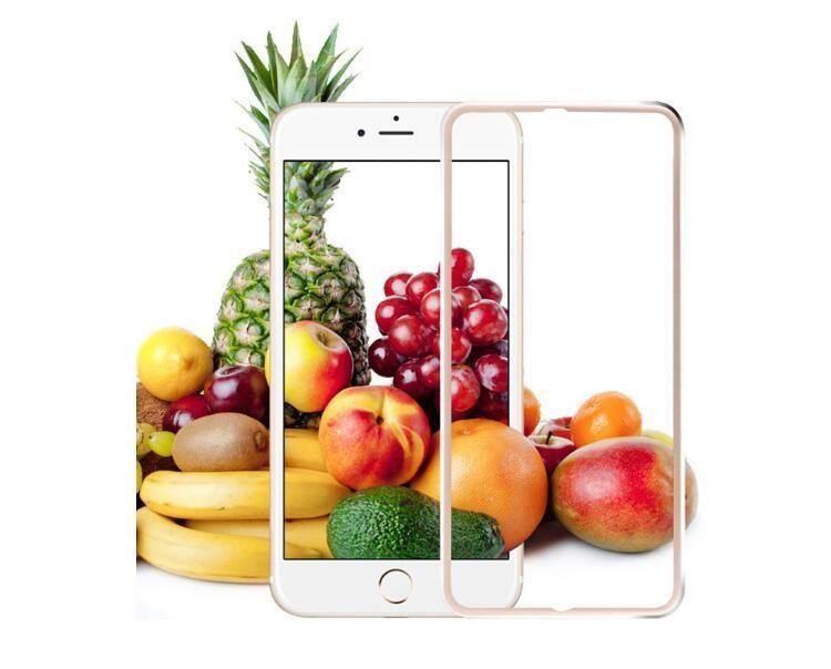 Lateral da liga de titânio 3d proteção de tela cheia de vidro temperado para iphone 6 7 plus 8 x filme protetor de tela