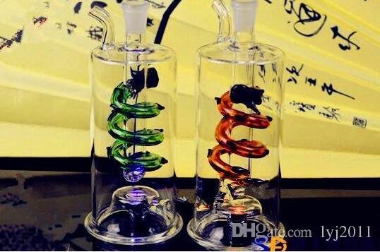 Flashing light dragon water bottle Wholesale Glass bongs Oil Burner Glass Water Pipe Oil Rigs Smoking Rigs