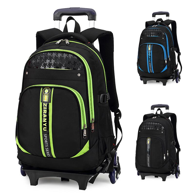 Children School Bags Kids Boys Girls Trolley Schoolbag Rolling Luggag Bags  Wheeled Backpack Rolling Suitcase For Kids Kids Rolling Suitcases From  Teaberry