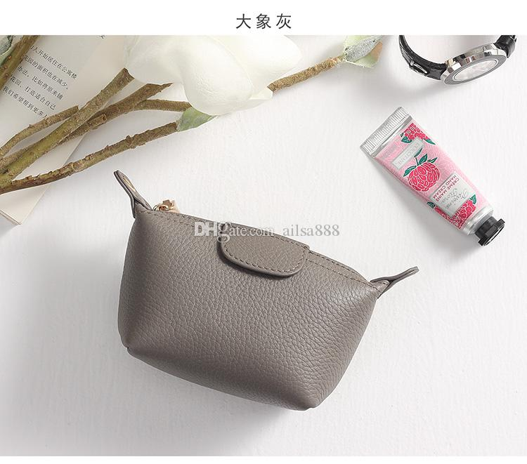 26a731c17785 Female Head Layer Cowhide Zipper Small Square Bag Coin Key Ring Mini  Dumpling Bag Zero Money Bag Wallet Online with  166.25 Piece on Ailsa888 s  Store ...