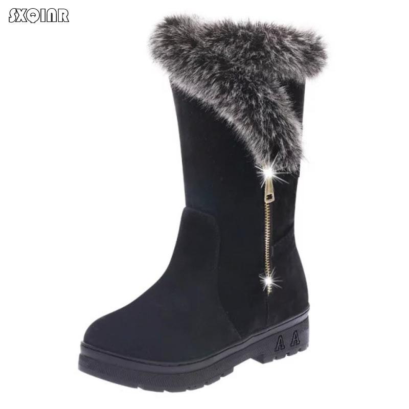 Platform Fashion Snow Stiefel Damens 2018 Fashion Platform Casual Comfortable Winter ... 41c769