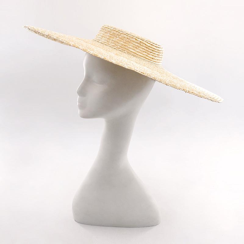 6bf211d4a6c Muchique Wide Brim Boater Hats Fine Straw Summer Beach Sun Hats X-Large  Vintage Women Top Quality