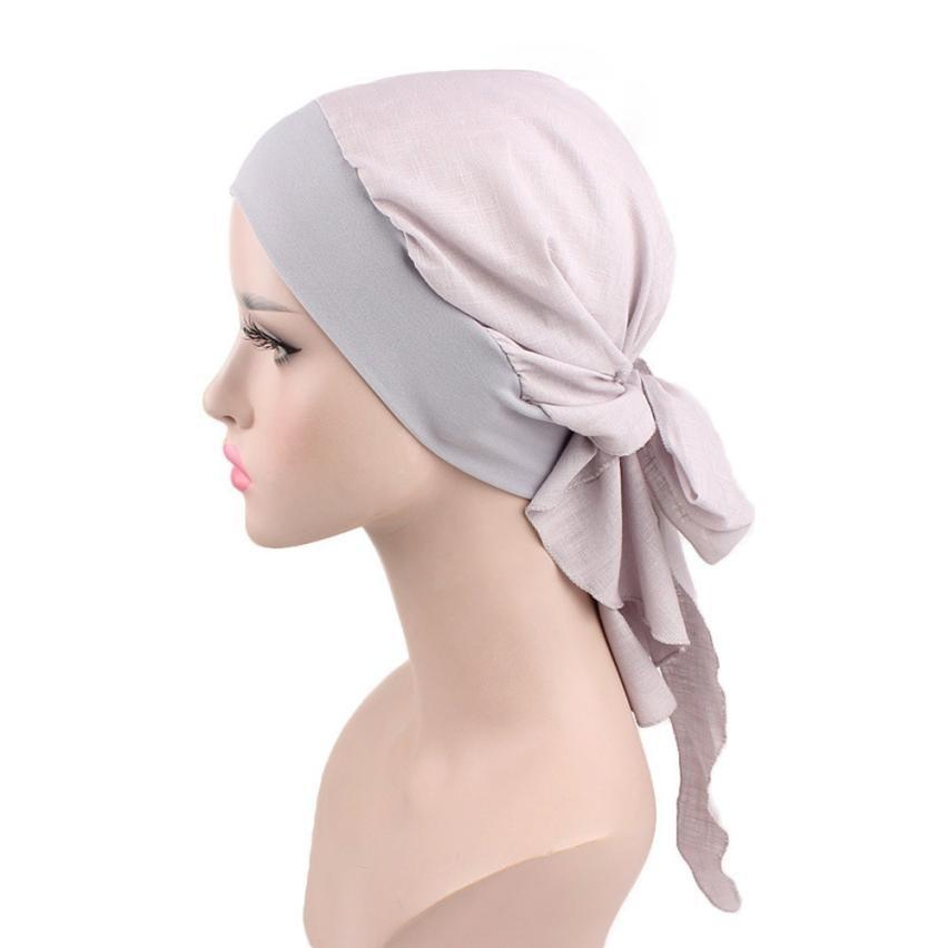 82c4f939472 2018 New Women Floral Turban Hat India Cap Hairnet Muslims Chemo Cap Pure  Color Beanies Chemotherapy Bonnet Hat For Ladies Cowboy Hats Stetson Hats  From ...