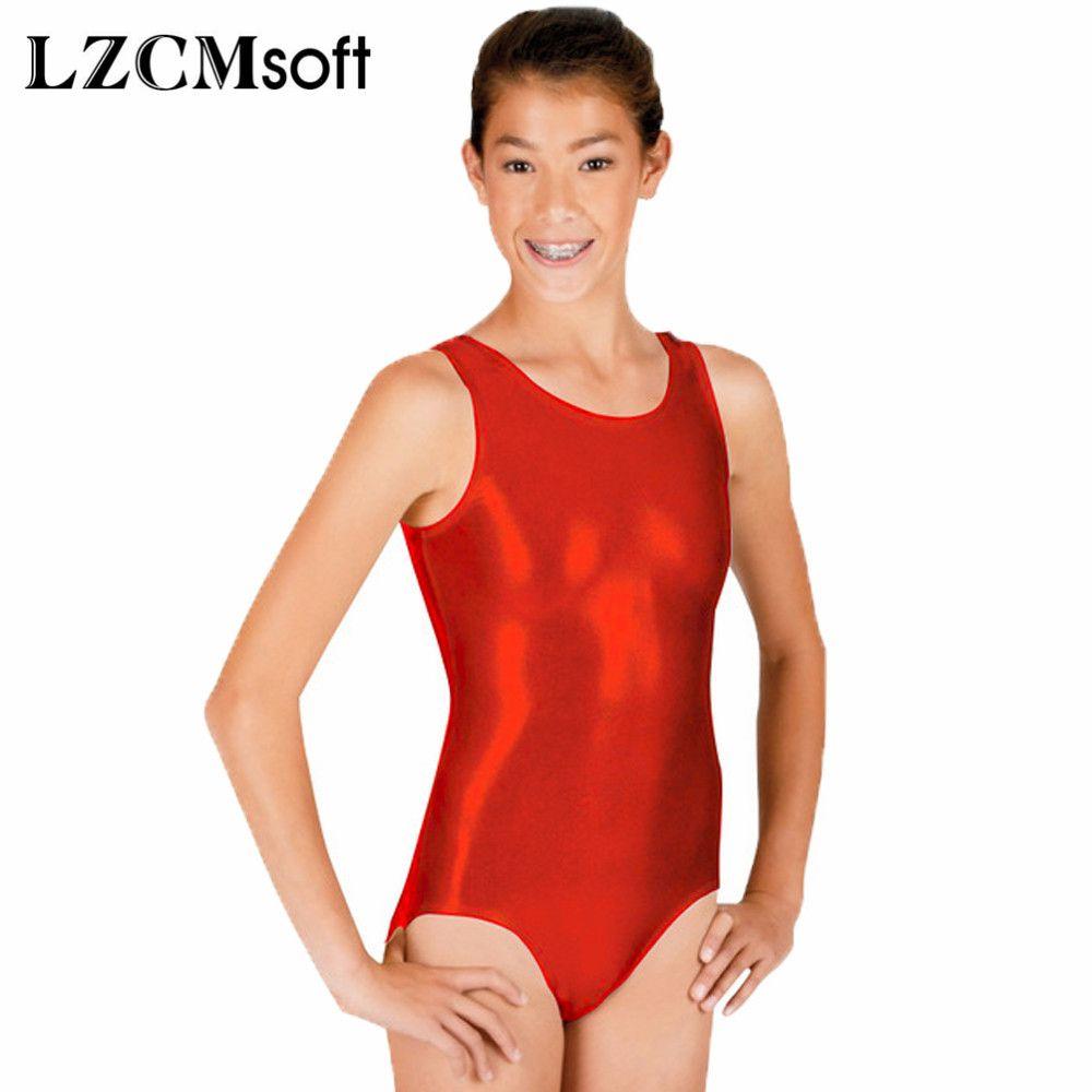 b34592283 2019 LZCMsoft Unisex Shiny Metallic Ballet Leotard Dancewear Red ...
