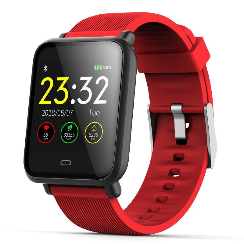 04388c1bec25 Compre Q9 Smartwatch Men Deportes A Prueba De Agua Para Android IOS Con  Monitor De Ritmo Cardíaco Funciones De Presión Arterial Mujeres Hombres  Reloj ...