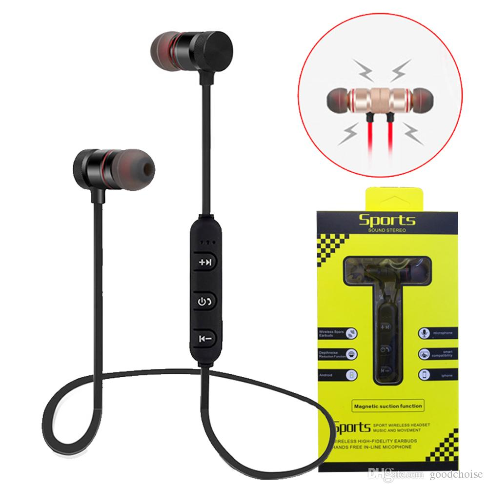 0988c81d286 Magnetic Music Bluetooth Earphone M5 M9 Sport Running Wireless Bluetooth  Headset With Mic For IPhone 8 X 7 Xiaomi Cell Phone Bluetooth Earbuds Cell  Phone ...