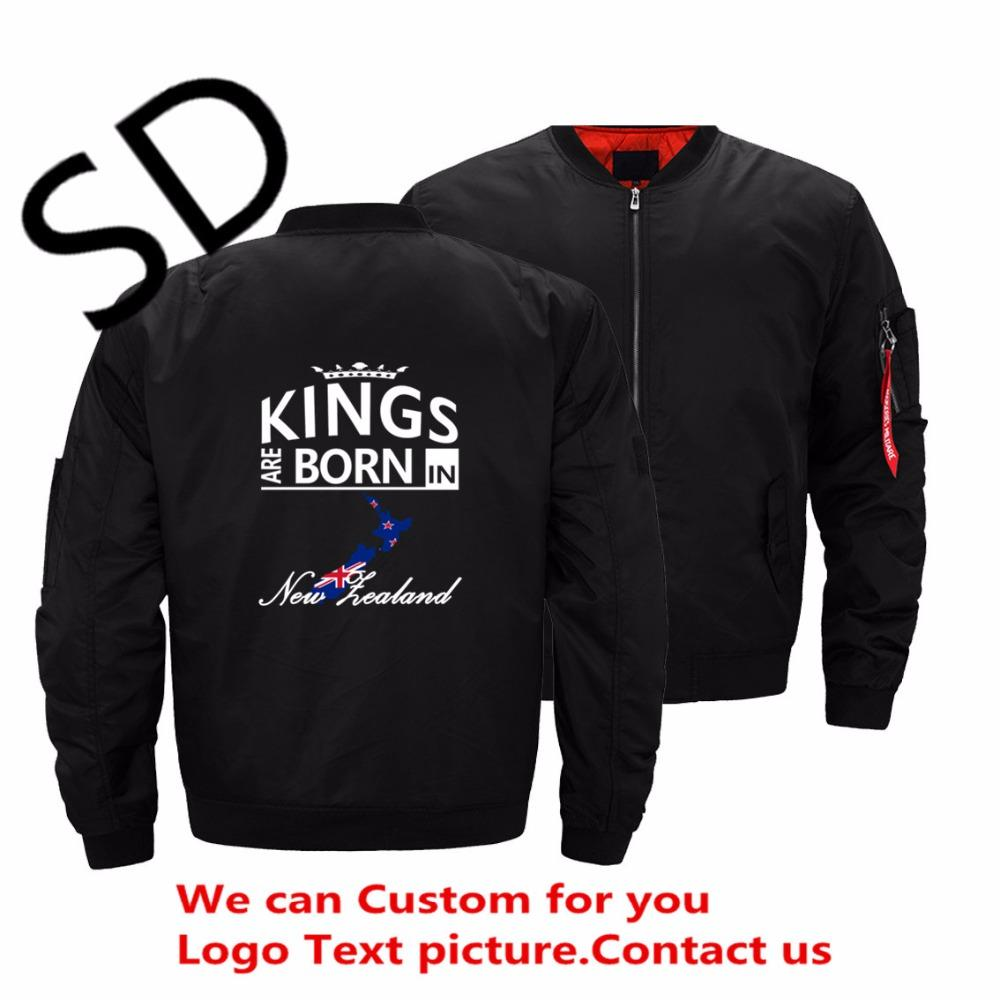 Dropshipping USA Size New Zealand Born Kings Jacket Men Dad Husband  Birthday Gift Campera Hombre Bomber Jackets Large Size 5XL Men Leather  Jackets Corduroy ... fd6d5598cb