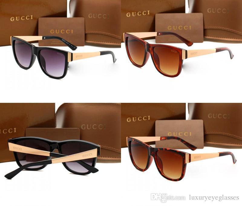 071bc931b8 Compre Barato De Lujo Gafas De Sol De Plástico Marca De Moda Para Mujer  Gafas Cuadradas De Sol Acetato Acetato Marco De Oro Gafas De Sol Gradiente  G3718 A ...