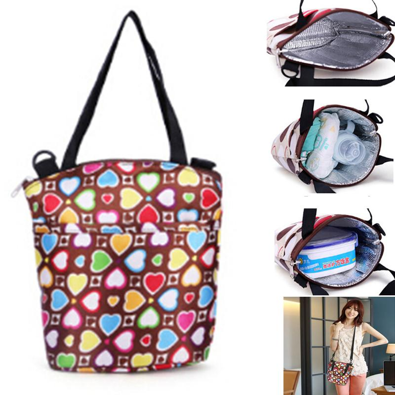 f81f8a77510d Portable Lunch Bag Women Lunch Bags Multifunction Baby Bottle Picnic Handbag  Shoulder Bag Insulated Thermal Tote Italian Leather Handbags Over The  Shoulder ...