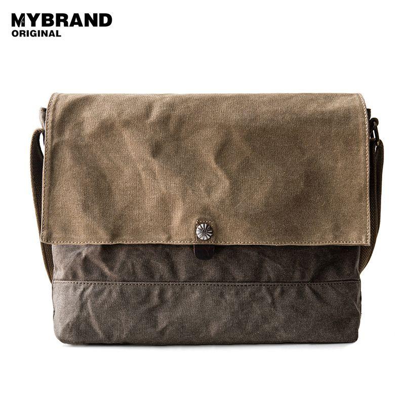 MYBRANDORIGINAL Crossbody Bag Men S Single Shoulder Bag Two Kinds Of Color  Is Patchwork Wax Canvas Messenger For Man B86 Handbags Wholesale Purses For  Sale ... 0437cdcdf225f