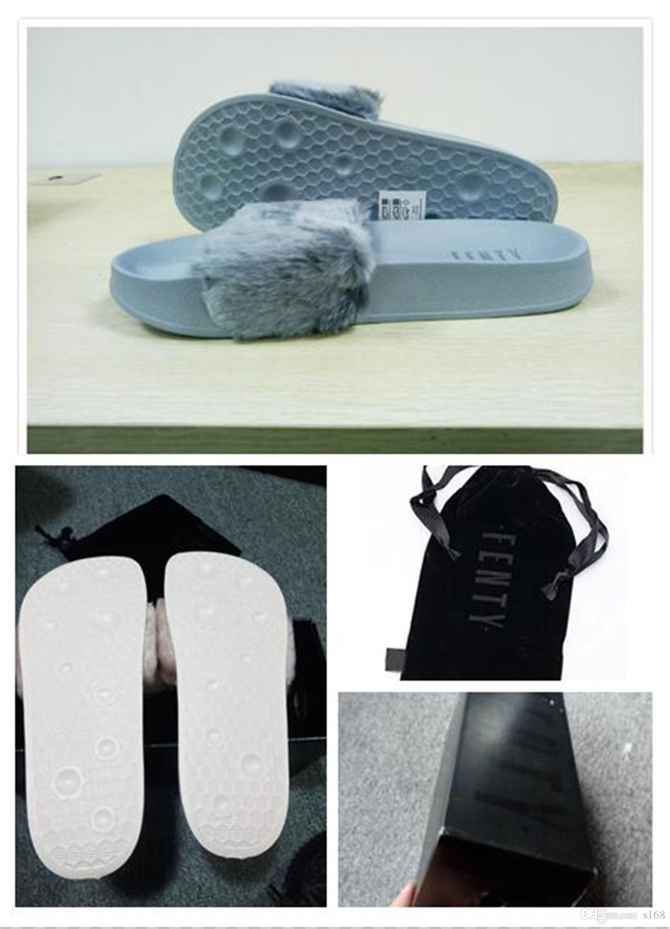 eba0800aa93 Dust Bags+ BoxRIHANNA FUR LEADCAT FENTY SLIDES SLIPPERS WOMEN Men ...