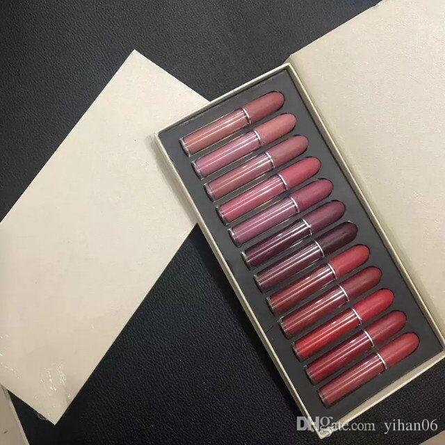 Fábrica Driect / SET M Brillo labial GOLD labial líquido Mate Lip Cream Lipstick es Encantador de larga duración DHL GRATIS