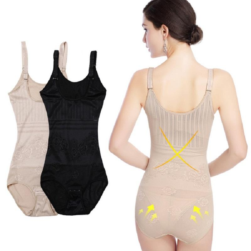 5d17339166 2019 Women Body Shapers Waist Cincher Trainer Tummy Corsets Bustiers  Bodysuits Body Slimming Thin Shapewear Black Nude From Octavi