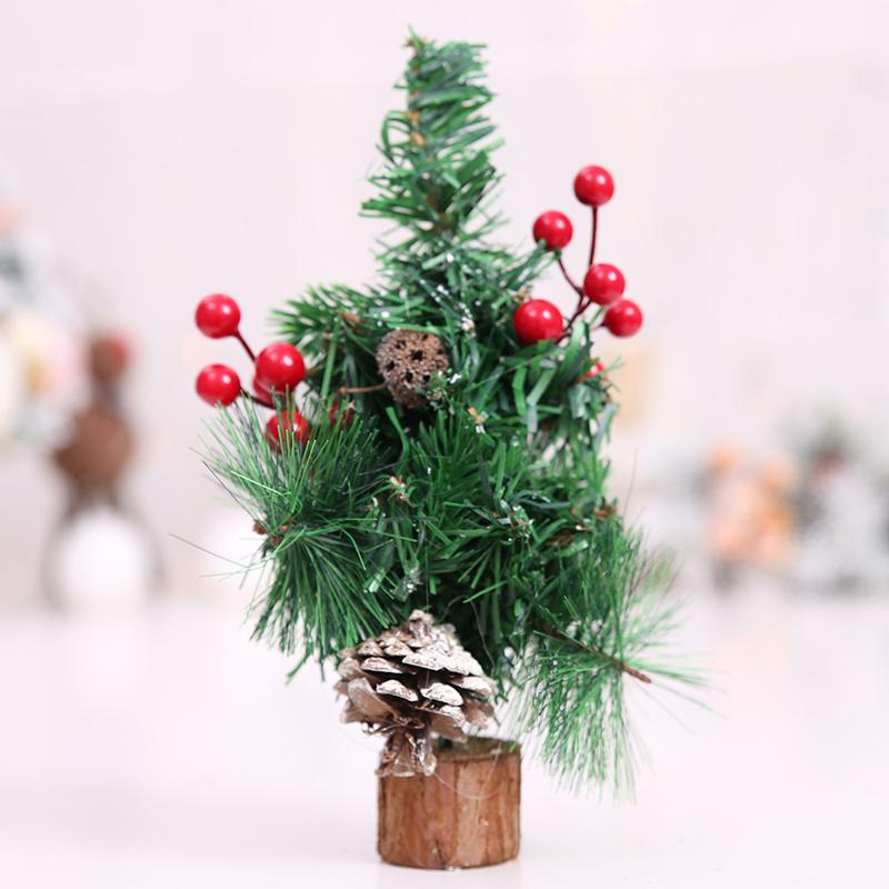 mini christmas tree bonsai ornaments decor tabletop desk xmas party decoration decorating house for christmas decorating ornaments from meinuo010