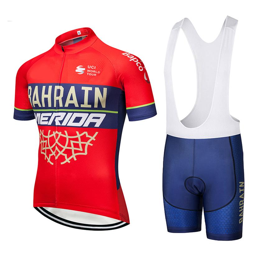 Tour De France 2019 TEAM BAHRAIN Men S Summer Short Sleeve Cycling Jersey  Bike Clothing Ropa Ciclismo 9D Gel Pad Bib Shorts Kit Cycling Shirts Bicycle  ... 8c9b7dedf