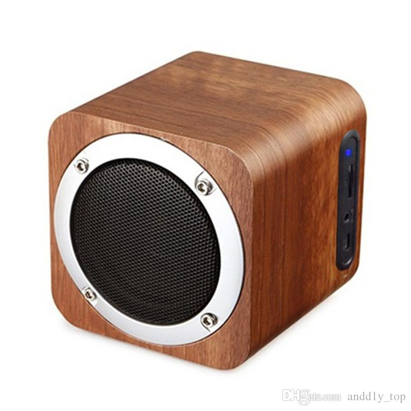 B06 MINI Wireless Bluetooth Speaker Wooden Portable Bluetooth 4.0 Speakers PC Computer Speaker with Enhanced Bass Reson