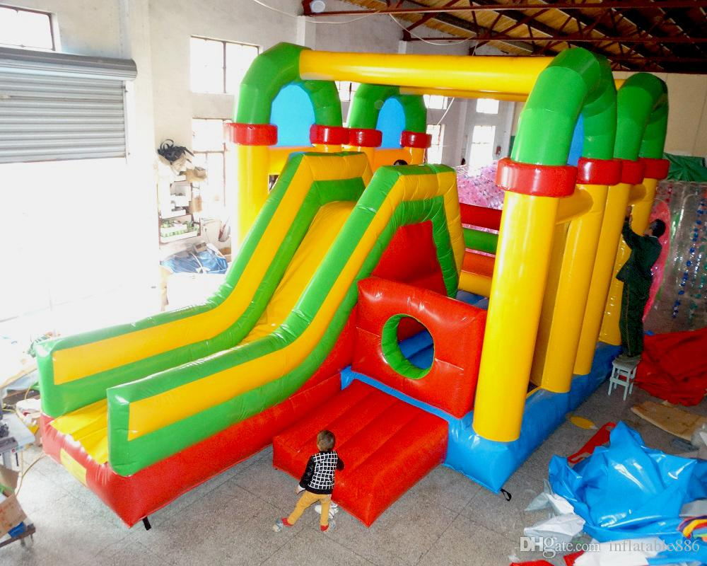 2020 PVC kids playground equipment indoor and outdoor inflatable slide soft playground bouncer