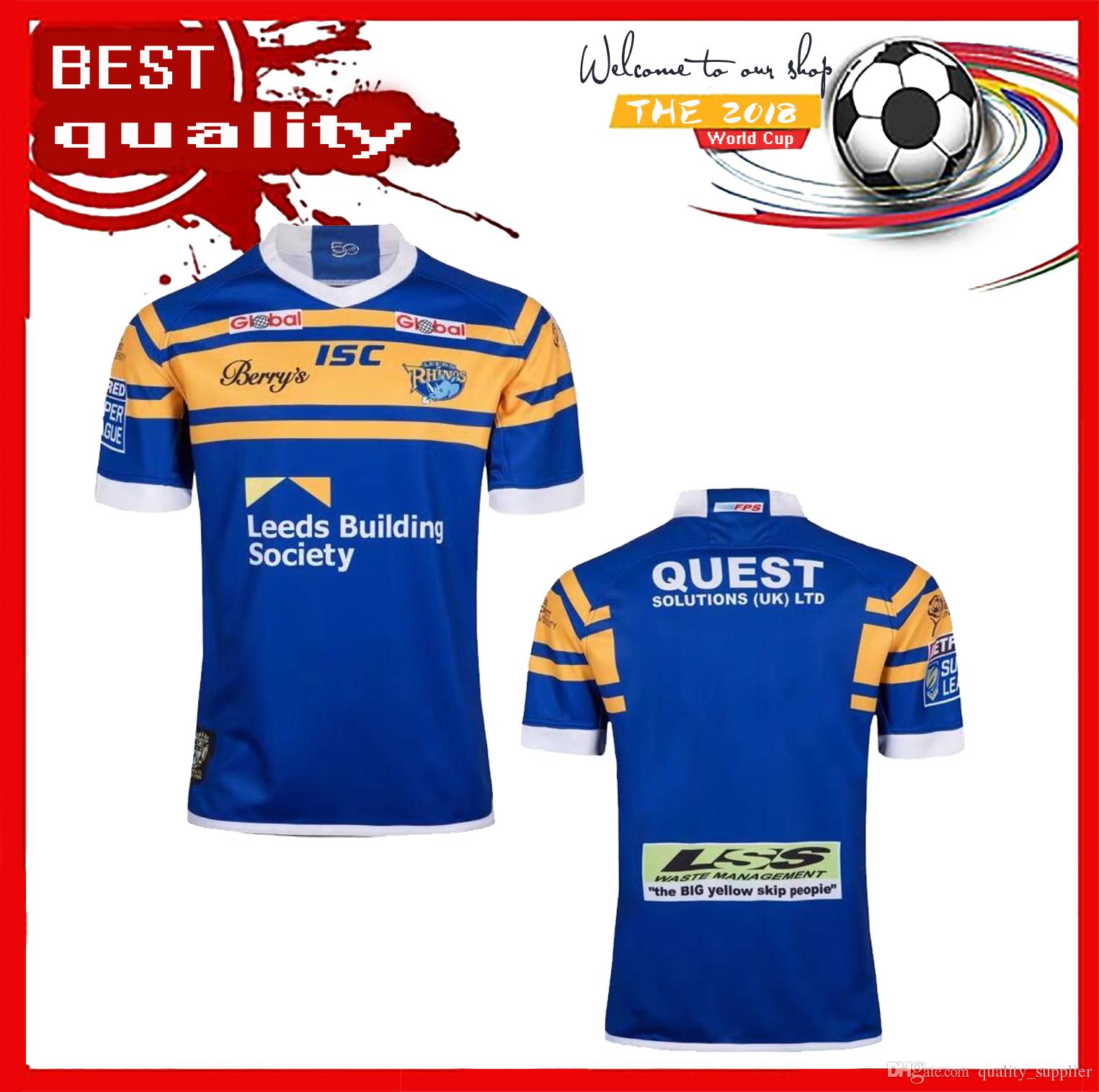 2b7396120bb 2019 2018 Leeds Rhinos Rugby Jersey Home Jerseys Super Rugby League Shirt  Best Quality Leeds Rhinos Football Shirt Size S XXXL From Quality_supplier,  ...