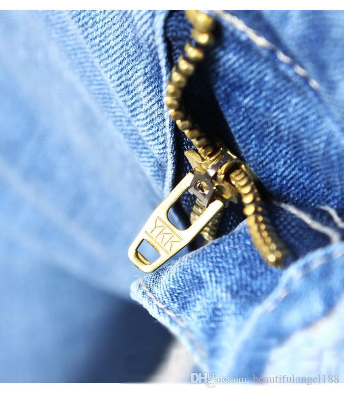 New Chegou Cintura Alta Bordado Calça Jeans Mulher Tamanho Grande Stretchy Flor Denim Skinny Lápis Calças Calças Para As Mulheres