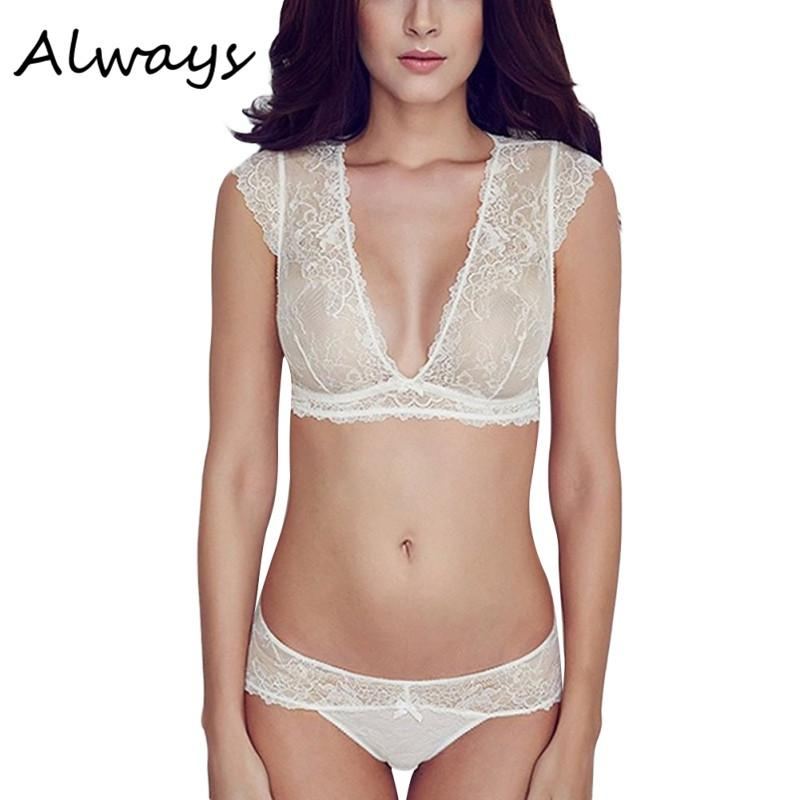 2019 Women Sexy Embroidery Floral Lace Sheer Thongs Panty Lingerie  Underwear Bra Set See Through Sexy Lingerie From Maoyili 8d2cf916c