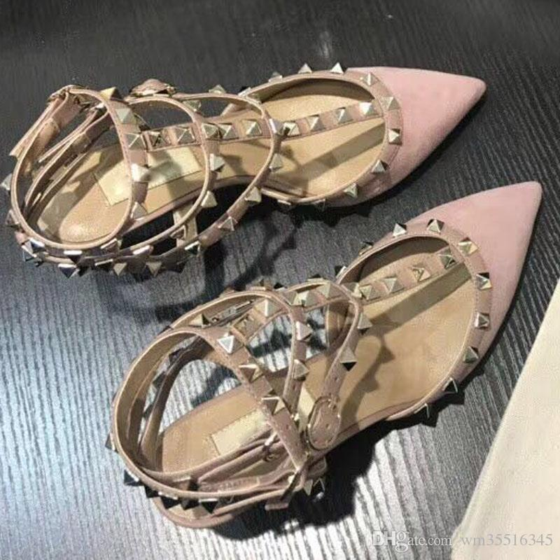 Mulheres sapatos de salto alto sapatos de festa moda nubuck rebites de couro meninas sexy apontou toe sapatos fivela plataforma bombas de casamento sapatos 4 cor
