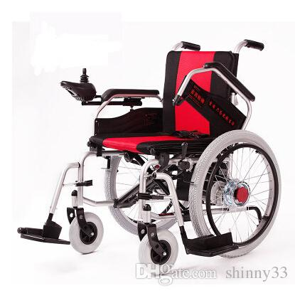 c97f9768d58 Wholesale Electric Wheelchair Disabled Elderly Old Man Walking Vehicle Portable  Folding Wheelchair Brake Single Speed Bikes Cell Bikes From Shinny33