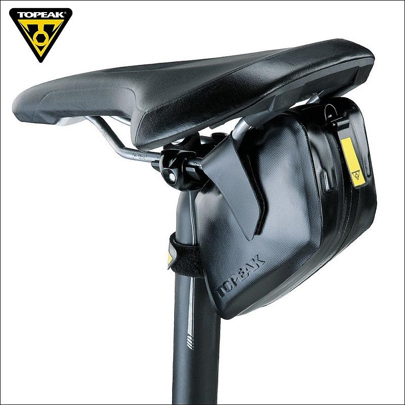 Topeak TC2293B Waterproof DynaWedge Bike Seatpost Bag Strap Mount Saddle Bicycle Bag with Magic Strap Buckles Bike Pannier