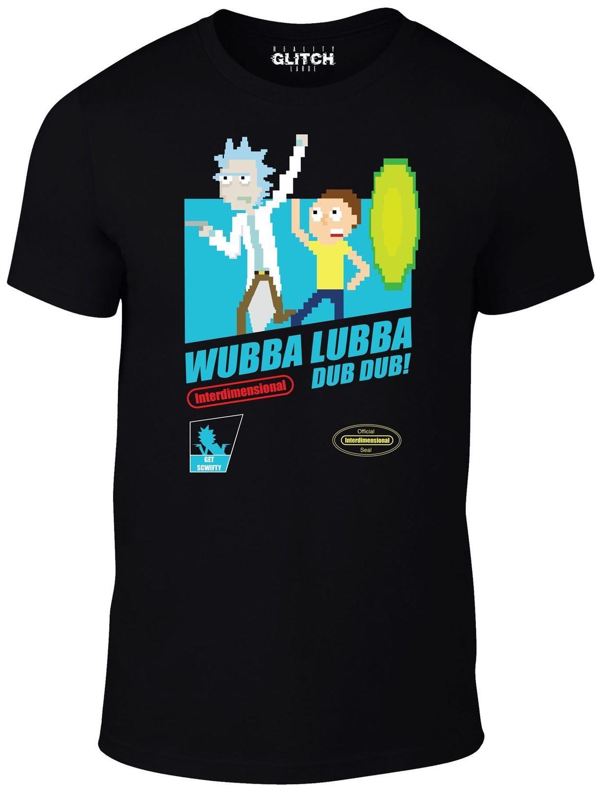 Acheter réalité glitch hommes wubba lubba dub dub t shirt rick morty cool casual t shirt hommes unisexe nouvelle mode de 10 66 du cls6688524 dhgate com