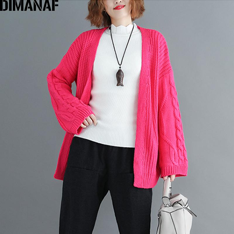 2019 Wholesale Women Sweater Cardigan Knitting Plus Size Female Lady Basic Outerwear  Long Sleeve Clothing Casual Loose Red 2018 Autumn From Liuyangfuzhuang 9363f0e99