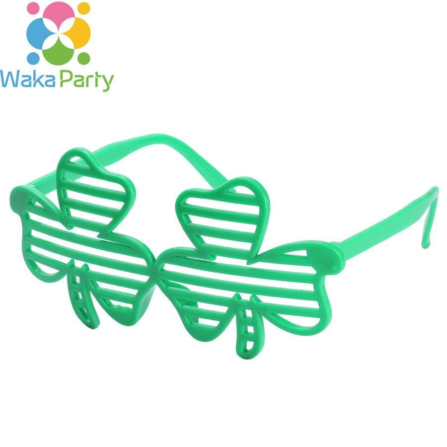 Shamrock St. Patrick\'S Day Sunglasses Plastic Eye Glasses Costume ...