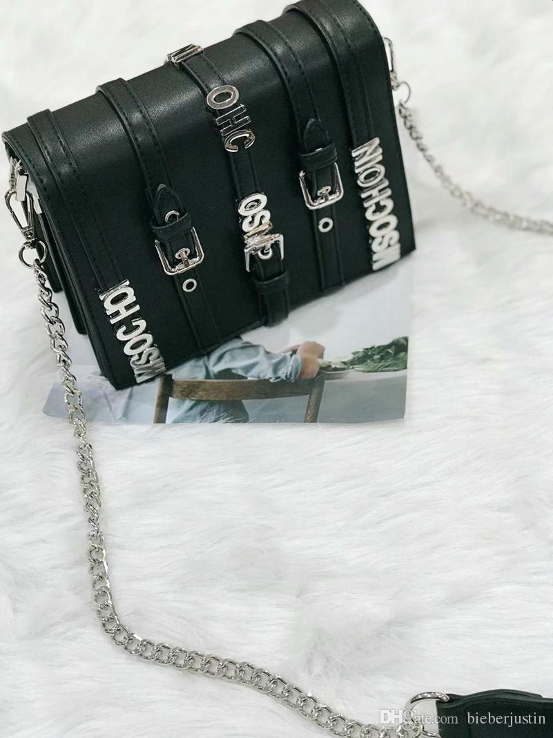 acc6488e7778 Fashion Ltter Lady Contast Color Bags Classic Mental Belt Oran ...